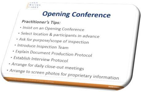 Opening Conference Slide