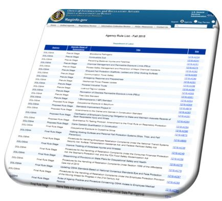 Reg Agenda Image