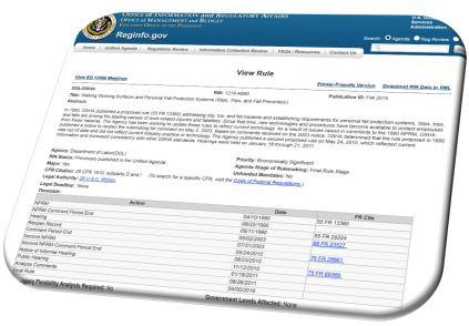 WWS Rule on Reg Agenda