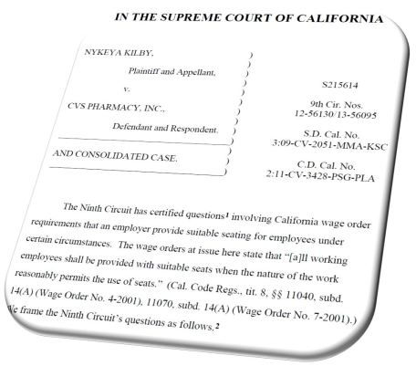 Article California Supreme Court Ruling On Suitable Seating Legal - California legal documents