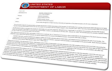 PSM Letter Retail Exemption