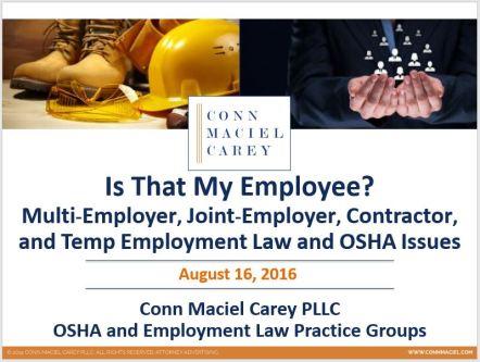 Joint Employer Webinar Cover Slide