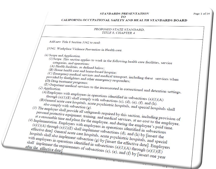 Cal/OSHA's Workplace Violence Rules for Health Care Take