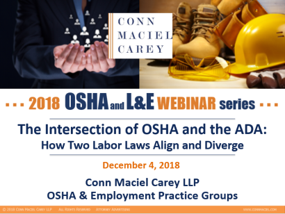 The OSHA Defense Report – Page 2 – OSHA Updates from Conn