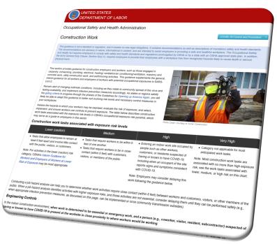 Construction Guidance