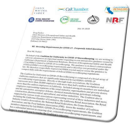 Letter to Cal OSHA